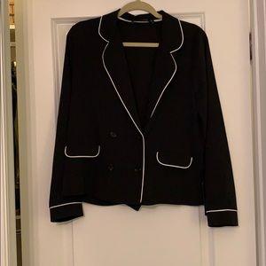 NWT Zara black tuxedo style blouse
